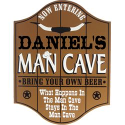 Bring Your Own Beer Personalized Man Cave Pub Sign