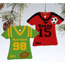 Personalized Sports Jersey Ornament