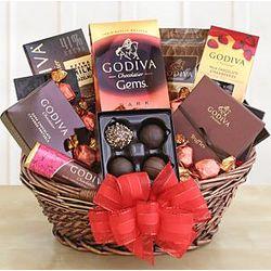 Classic Holiday Godiva Gift Basket