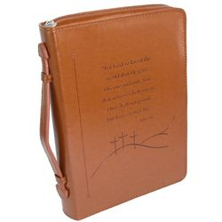 Faux Leather Bible Cover with Debossed John 3:16 Text