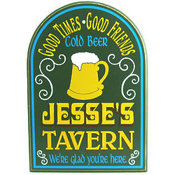 Personalized Wood Tavern Plaque