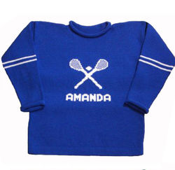 Personalized Infant or Toddler Lacrosse Sweater