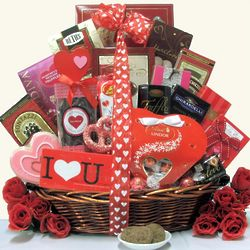 Sweet Devotion Extra Large Valentine's Day Chocolates Gift Basket
