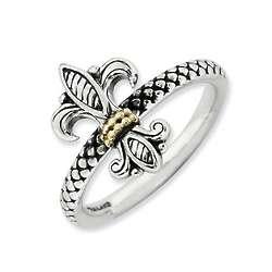 Stackable Fleur De Lis Ring