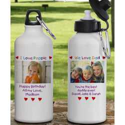 Reusable Custom Photo Aluminum Water Bottle