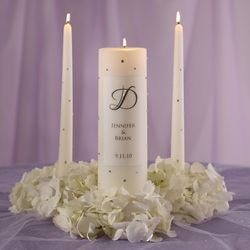 Personalized Crystal Wedding Unity Candle