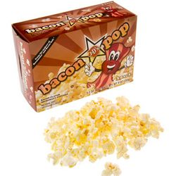 Bacon Flavored Microwaveable Popcorn