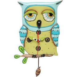 Owl Clock with Pendulum