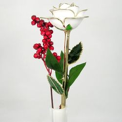 Premium Gold Dipped Christmas Rose