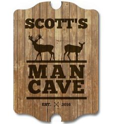Stags Only Man Cave Sign