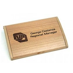 Arched Maple Folding Business Card Holder