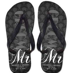 Personalized Newlywed Flip Flops