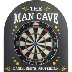 The Man Cave Personalized Pub Sign and Dartboard