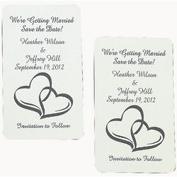 Personalized Two Hearts Save The Date Magnets