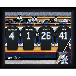 Tampa Bay Lightening Locker Room Framed Print