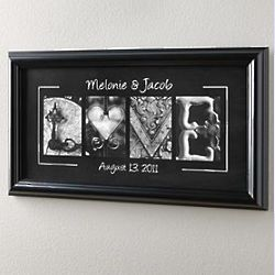 Personalized Love Framed Print With Date