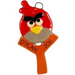 Angry Birds Personalized Handmade Dough Ornament