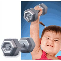 Buff Baby Dumbbell Rattle