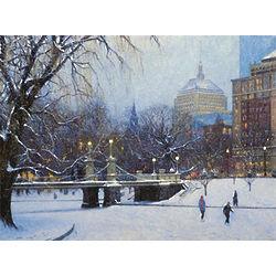 Massachusetts City Lights Art Print