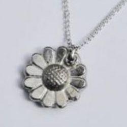 Tin Daisy Pendant