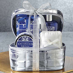 Blue Violet and Lily Scented Bath Set
