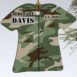 Personalized Army Christmas Ornament