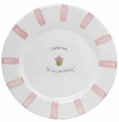Personalized Birthday Girl Plate