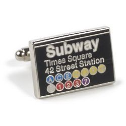 NYC Times Square Subway Sign Cufflinks