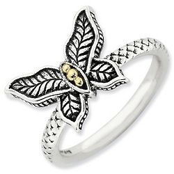 Sterling Silver Stackable Butterfly Ring