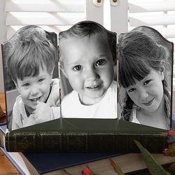Custom Triple Photo Table Top Folding Plaque