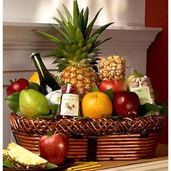 Large Bountiful Fruit and Gourmet Gift Basket