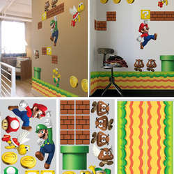 New Super Mario Bros Wall Graphics