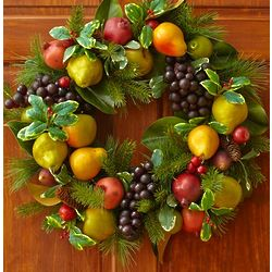Faux Fruit Wreath