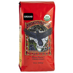 Raven's Brew Ebony Pearls French Roast Organic Ground Coffee