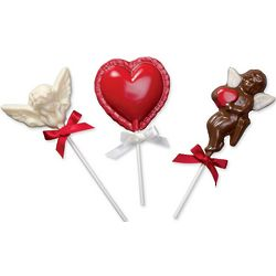 Chocolate Valentine Lollipops
