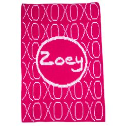 XOXO Stroller Blanket with Personalized Name