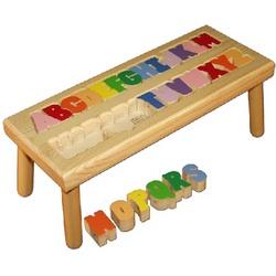 A-Z Alphabet Puzzle Stool