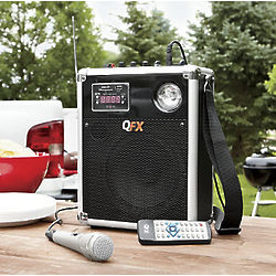 Battery-Powered QFX Portable PA Speaker