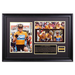 Lance Armstrong Framed Photographs with Band and Nameplate