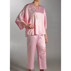 Suddenly Spring Solid Charmeuse PJ Set