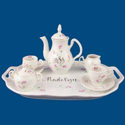 Personalized Hand Painted Porcelain Mini Tea Set