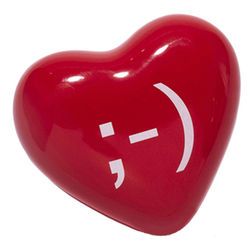 Winking Heart Emoticon Paperweight