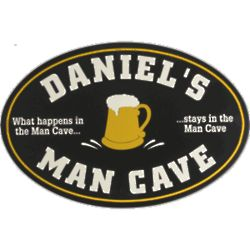 What Happens in the Man Cave Personalized Pub Sign