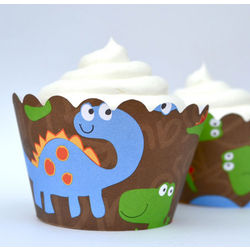 Dinosaur Cupcake Wrapper Set