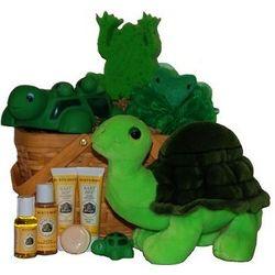 Lilly Pond Buddies Baby Spa Gift Basket
