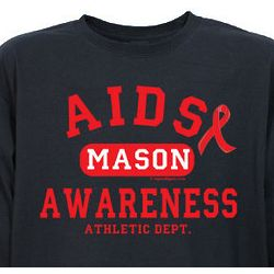 AIDS Awareness Athletic Dept. Long Sleeve T-Shirt