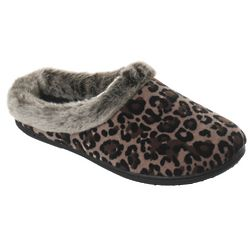Velour Clog with Frosted Fur Cuff