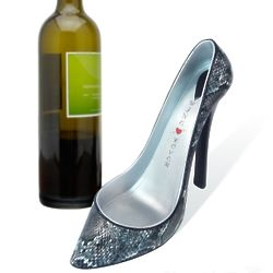 Starless Snakeskin Shoe Wine Bottle Holder