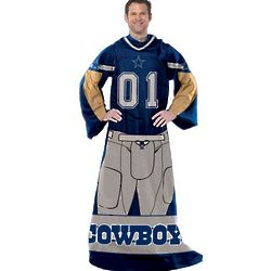 Dallas Cowboys Player Uniform Comfy Throw