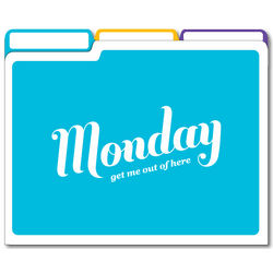 Days of the Week File Folders
